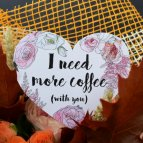 Открытка «I need more coffe»